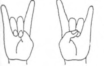 Simbol El Diablo atau biasa dikenal salam metal